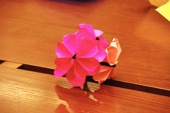 sakura, cherry blossoms, Japan Society, NYC, origami