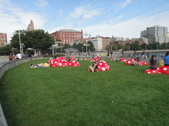 Yayoi Kusama, Whitney Museum, NYC, Japanese artists, 192 books, Louis Vuitton, meatpacking, Hudson River Park Trust