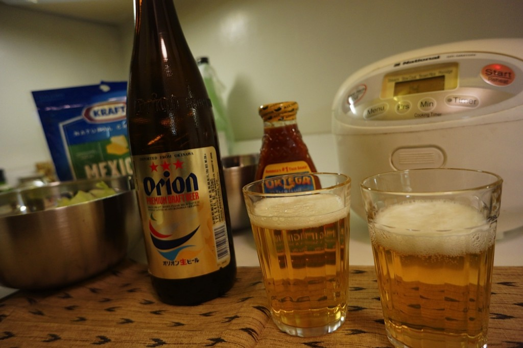 taco rice, Okinawa, Okinawan cuisine, izakaya, Christmas, Japan, Orion Beer, Korin, food