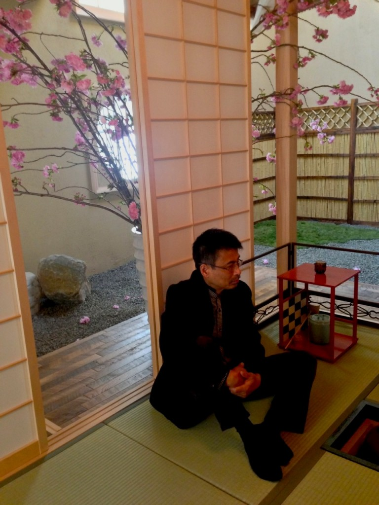 Stephen Globus, Washitsu, Chashitsu, tea ceremony, Tea-Whisk, Souheki Mori, Florisity, Japan Society, Japanese culture, Japanese traditions, sakura, cherry blossoms, hanami, o-hanami