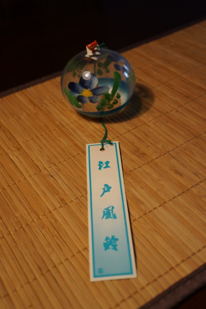 Edo furin, furin, glass wind bell, wind chimes, NYC, wuhao new york, Ruri Kippenbrock, tenugui, glass