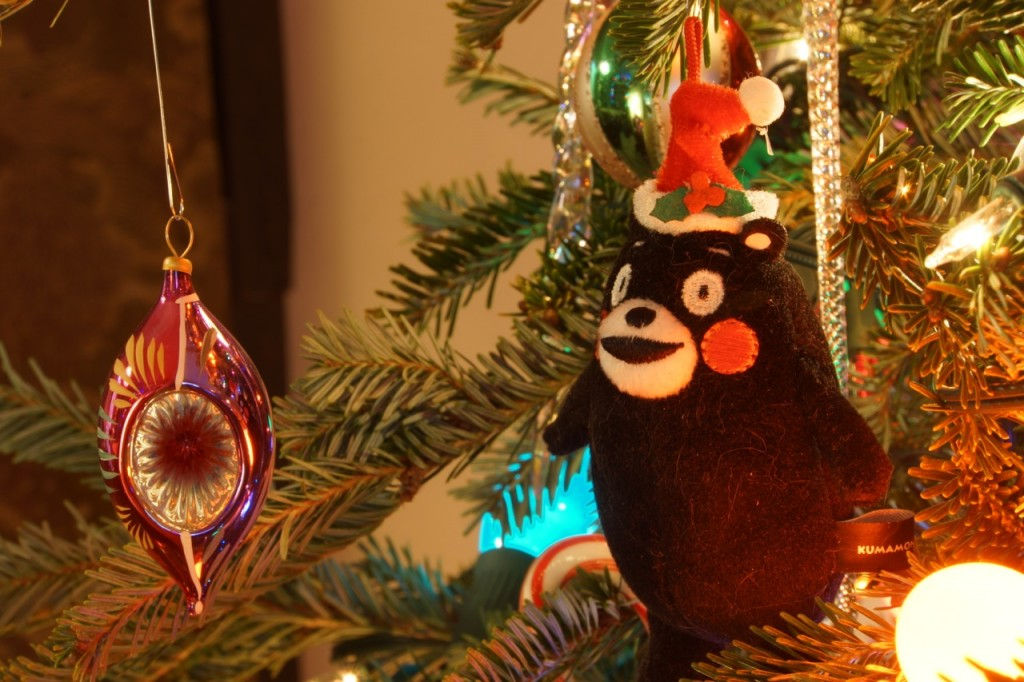 NekobukurChristmas, Japan, NYC, Japanese, American, ornament, Date Masamune, Santa Claus, Kumamon, manjuu, year of the snake, Orion beer