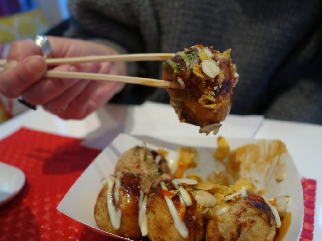 Mimi and Coco, takoyaki, teriyaki balls, NYC, LES, Lower East Side, Japanese restaurant, Japanese cuisine, Japanese comfort food, ramen, street fair, Japan Block Fair, katsu don, bubble tea