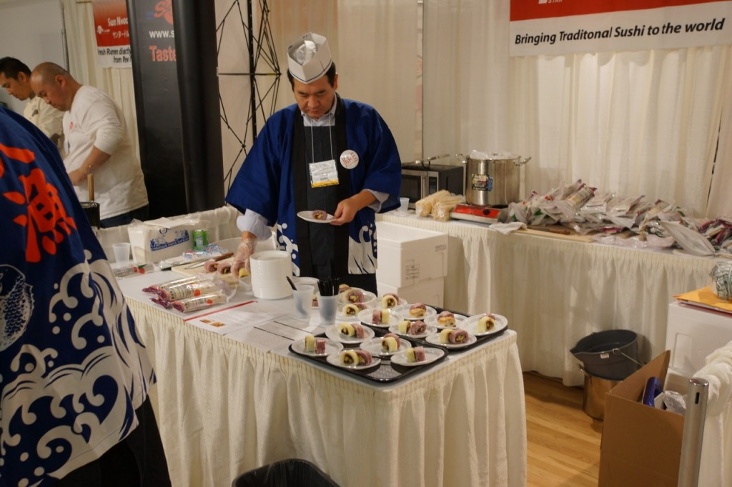 New York Mutual Trading, Japanese Food and Restaurant Expo, JFRE, NYC, Japan, Japanese cuisine, trends, restaurants, food, cuisine, sake, shochu, umeshu, mikan, wasabi, TREHA, white soy sauce, Hakkaisan, sushi, Niigata Beer, truffle beer, Orion