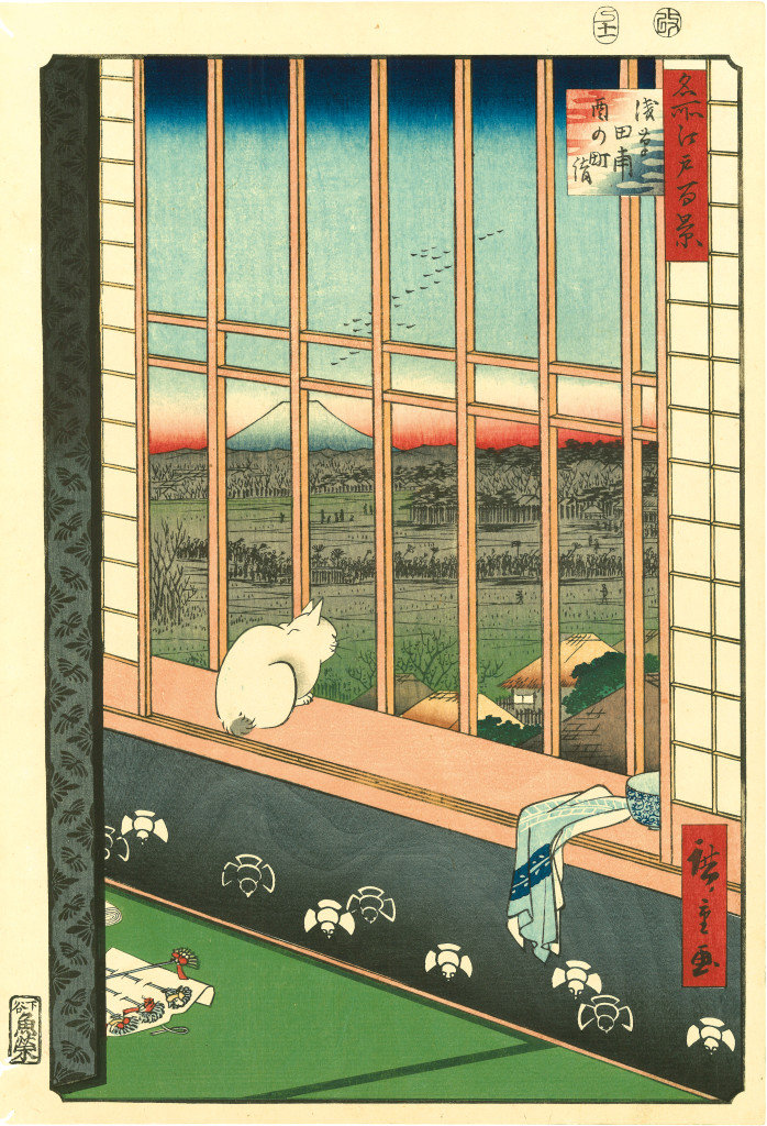 Japan Society, Life of Cats, cats, neko, nyanko, nyan, kawaii, ukiyo-e, woodblock prints, art, Hiroshige, Utagawa, felines, exhibition, art, Hiraki Ukiyo-e Foundation, Japan