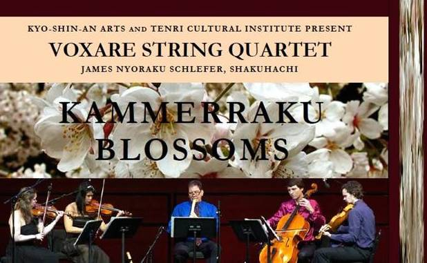 Kammerraku, Kammerraku Blossoms, Kyo-Shin-An Arts, shakuhachi, koto, shamisen, James Nyoraku Schlefer, Voxare Quartet, Fukushima, New York Philharmonic Very Young Composers, NYC, Japan, classical music