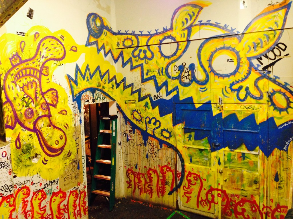 RESOBOX, RESOBOX Gallery, NYC, Japan, Japanese art, murals, Peelander-Yellow, Peelander-Z, yellow