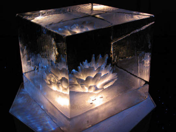 RESOBOX, RESOBOX Gallery, NYC, Japan, art, ice, ice sculpture, sculpture, sake