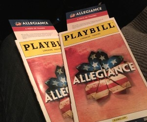 Allegiance, Broadway, Broadway musical, NYC, theatre, George Takei, WWII, World War II, internment, gaman, Heart Mountain, Lea Salonga, Telly Leung, Executive Order 9066, Loyalty Questionnaire