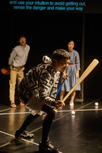 Japan Society, baseball, God Bless Baseball, theatre, performance art, NYC, Japan, South Korea, Korea, Toshiki Okada, politics