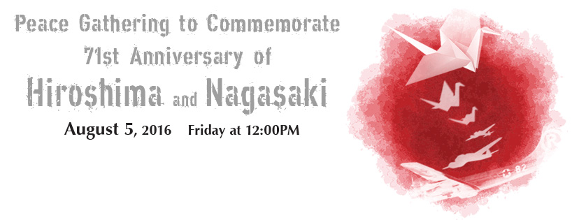 Hiroshima, Nagasaki, Japan, NYC, peace, atomic bombings, Consulate General of Japan to New York, peace gathering, no nukes