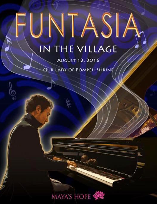 Funtasia in the Village, Maya's Hope, NYC, children, non-profit, charity, piano, concert, Gohei Nishikawa