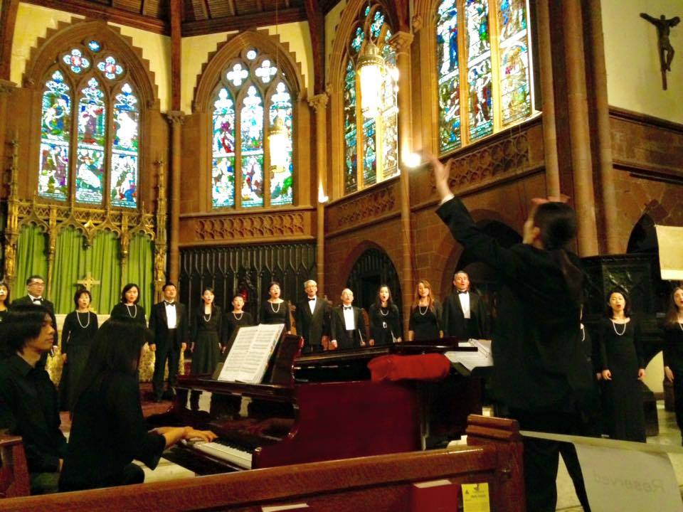 New York Mixed Chorus, NYC, Japan, Okinawa, sanshin, the Church of the Holy Trinity, chorus