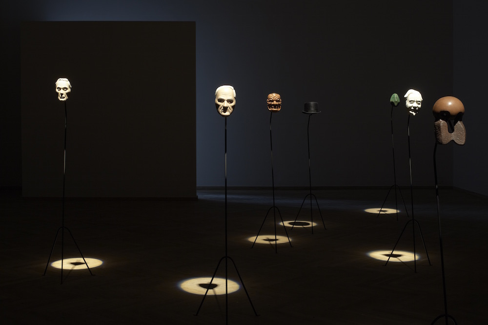 Simon Starling, At Twilight, W.B. Yeats, Noh, theatre, poetry, arts, Ezra Pound, Yone Noguchi, Isamu Noguchi, Japan Society, Japan Society Gallery, NYC, Japan, Great Britain, masks