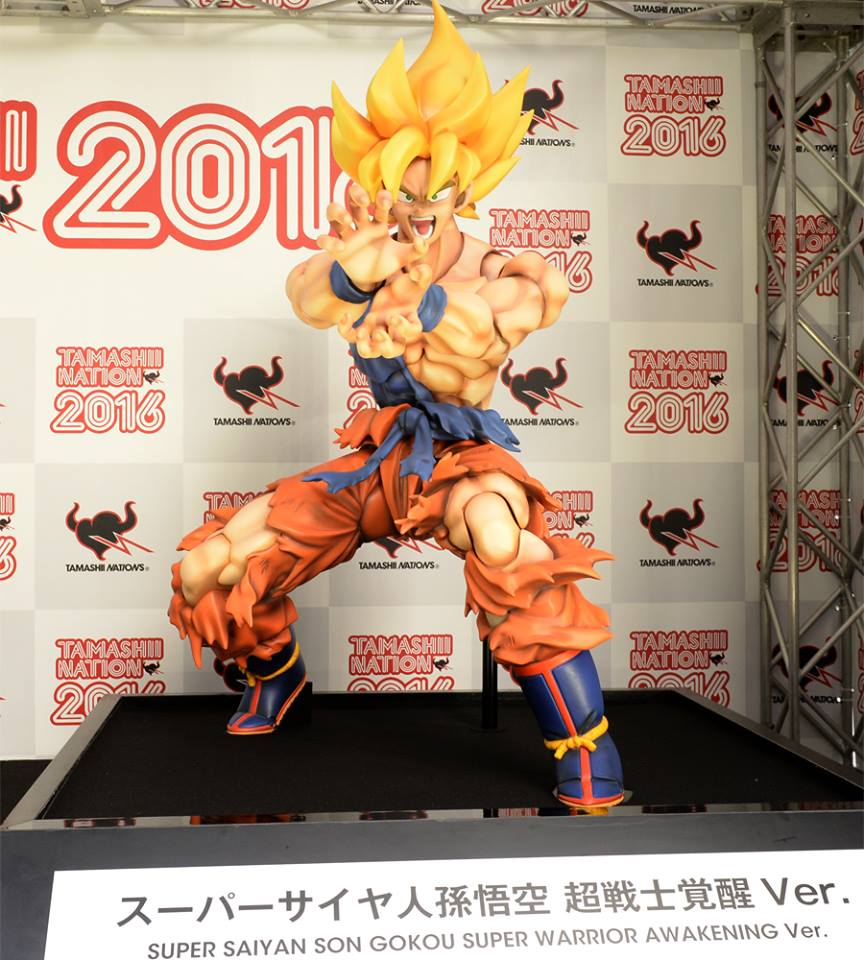 Life-size Super Saiyan Goku Statue | Photo Courtesy of TAMASHII NATIONS