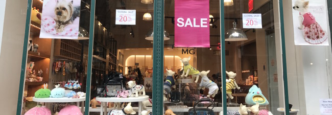 Retailer specializing in pet clothing will leave NYC