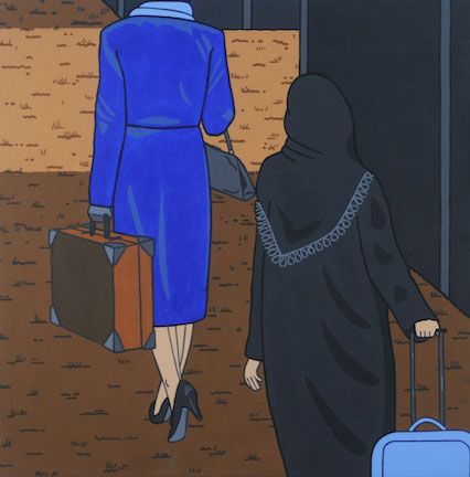 Roger Shimomura, Flomenhaft Gallery, NYC, Japan, Minidoka, art, internment, WWII, Executive Order 9066, internment camps, incarceration