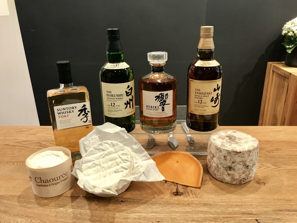 Suntory, whisky, Japanese whisky, French cheese, cheese, French Cheese Board, Asian Women in Business, AWIB, NYC, Japan, France, Toki, Hakushu, Hibiki, Yamazaki, Chaource, Camembert, Mimolette, Tomme Brulee, tasting, pairing