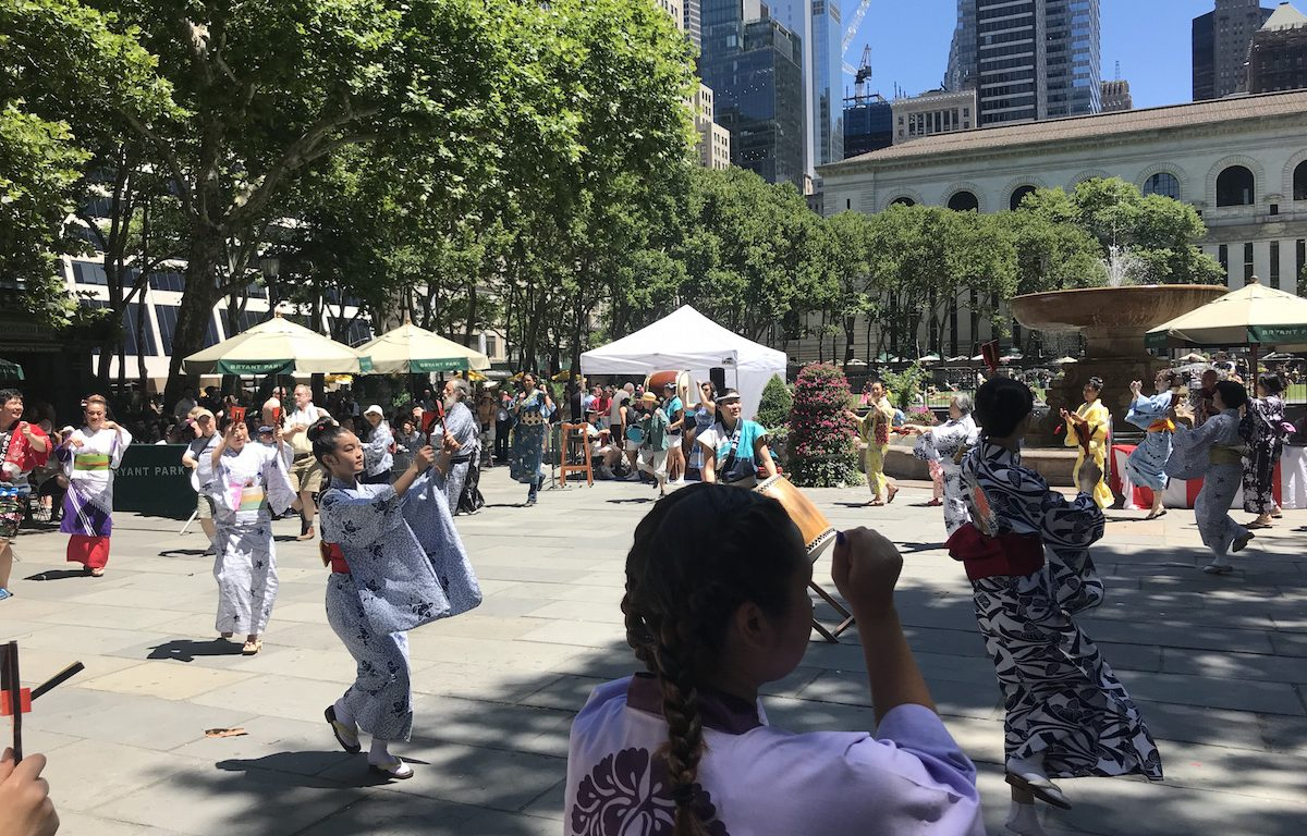 Obon, bon odori, New York Buddhist Church, NYC, Japan, Japanese traditions, Bryant Park, Buddhism, ancestors