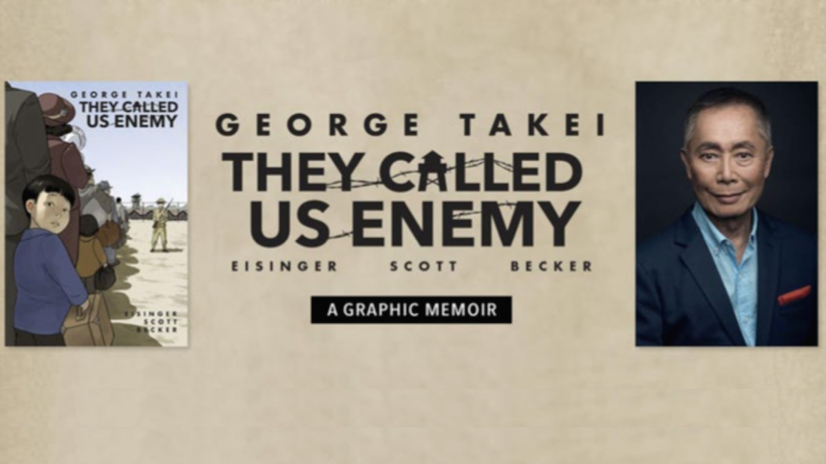 George Takei, They Called Us Enemy, Barnes & Noble, NYC, Japanese Americans, internment, internment camps, WWII, graphic memoir, memoirs, books