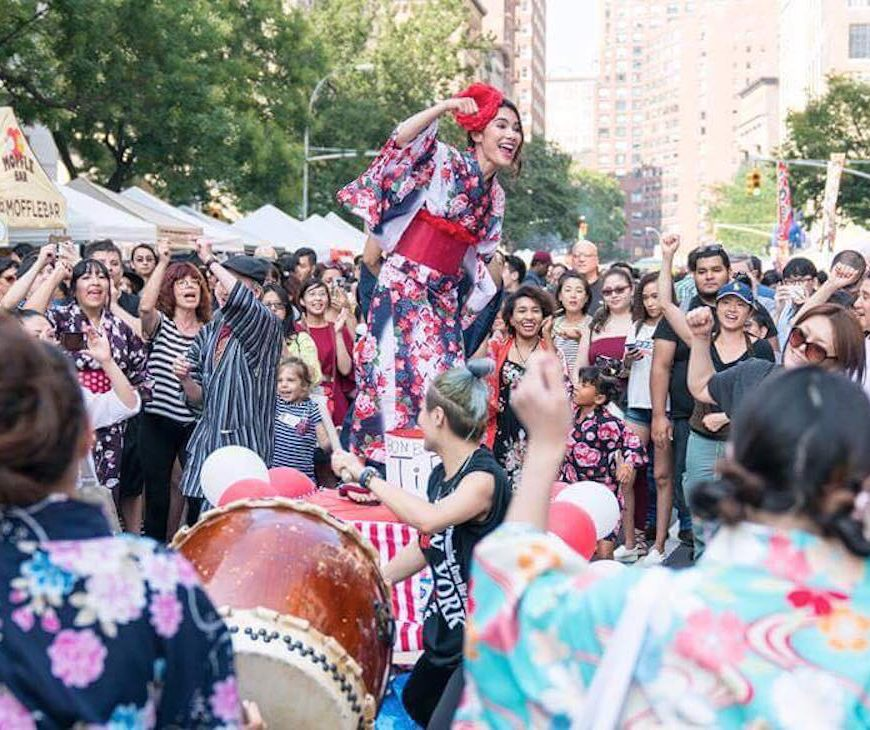 JAPAN Fes., summer matsuri, festival, street fair, Japanese street food, yukata, Calpico, East Village, nagashi somen