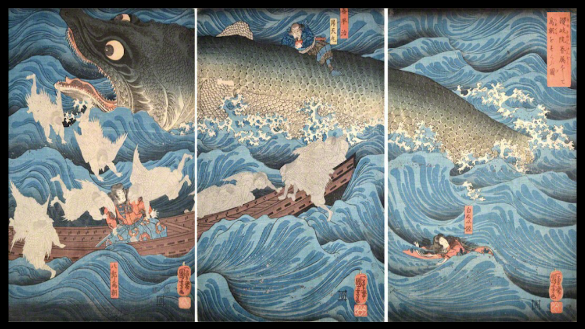 Kuniyoshi, The Ronin Gallery, NYC, Japan, art, ukiyo-e, Asia Week